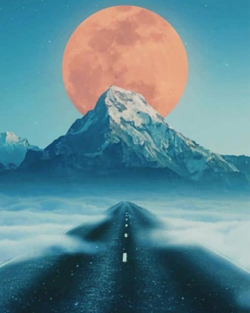 Road To Moon paint by numbers