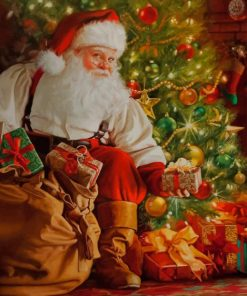 Santa Christmas paint by numbers