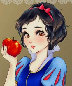 Snow White paint by numbers