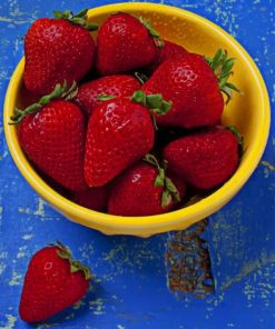 Strawberries In Bowl paint by numbers