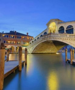 Rialto Bridge Venice paint by number
