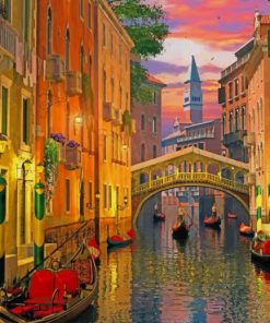 Venice At Night paint by numbers