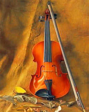 Vintage Violin paint by numbers