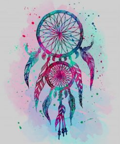 Watercolor Dream Catcher paint by number