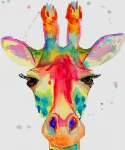Watercolor Giraffe paint by numbers