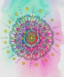 Watercolor Mandala Art paint by number
