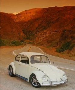White Classic VW paint by numbers