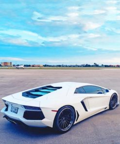 White Lamborghini paint by numbers