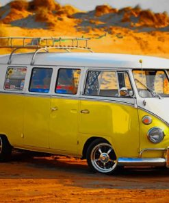 Yellow VW Bus paint by numbers