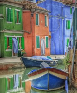 Aesthetic Colorful Buildings Paint by numbers