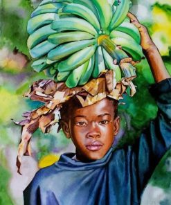 African Boy paint by numbers
