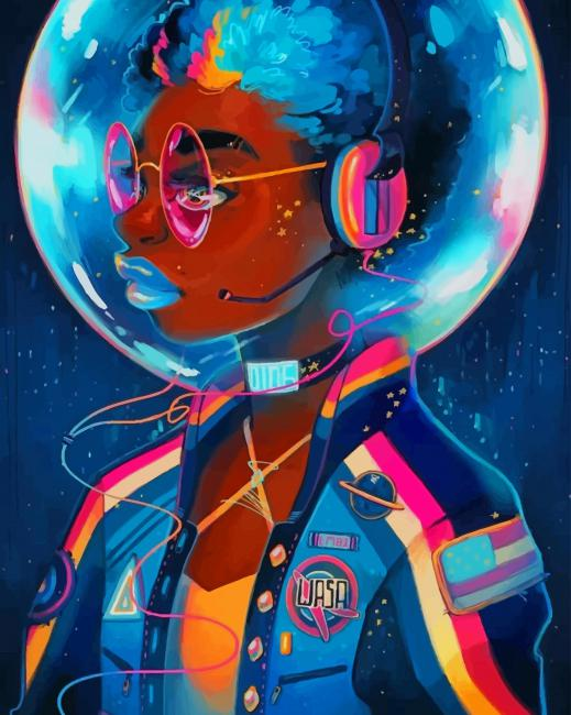 Afrofuturism Illustration paint by number