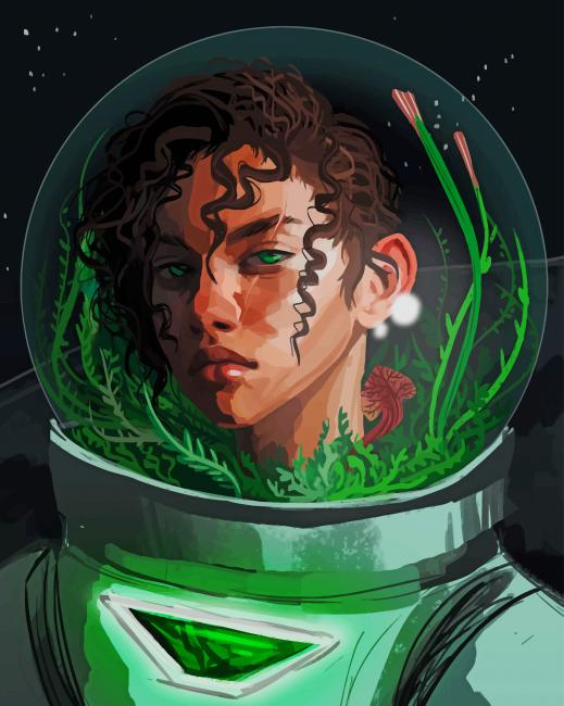 Astronaut Girl Art paint by numbers