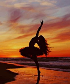 Ballerina Sunset paint by numbers