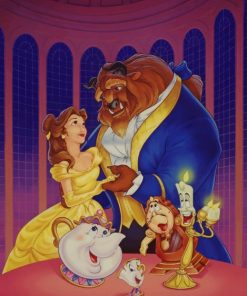 Beauty And The Beast Disney Dancing paint by numbers