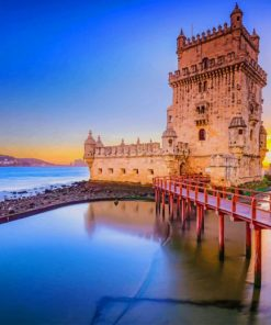 Belem Tower Lisbon paint by numbers
