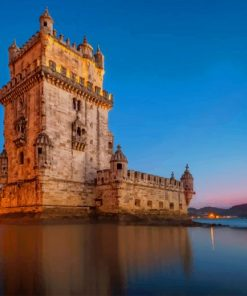Belem Tower Portugal paint by numbers