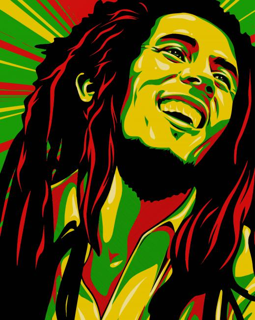 Bob Marley Art paint by numbers