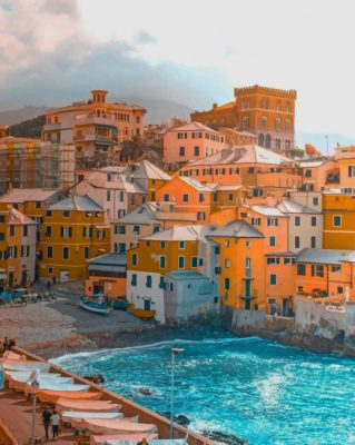 Boccadasse Beach Italy paint by numbers