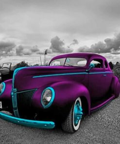 Classy Purple Car paint by numbers