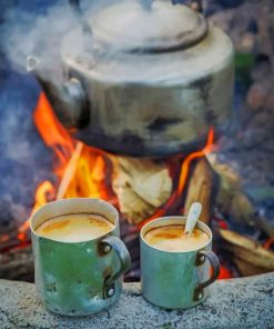 Coffee And Camping paint by numbers