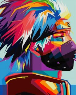 Colorful Naruto paint by numbers