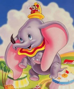 Dumbo Elephant paint by numbers