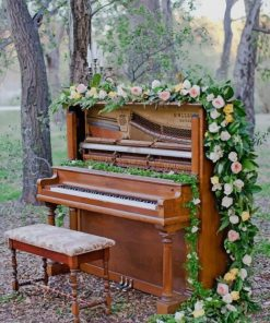 Flowers Blooming Piano paint by number