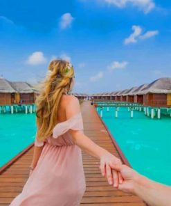 follow me to maldives paint by numbers