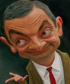 Funny Face Mr Bean paint by numbers