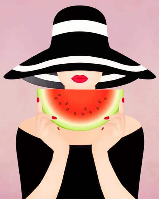 Girl With Watermelon paint by numbers
