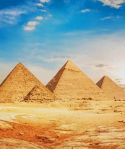 Great Pyramid Of Giza Egypt paint by number
