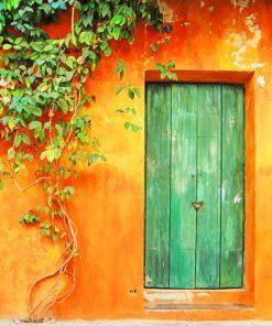 Green Door paint by numbers