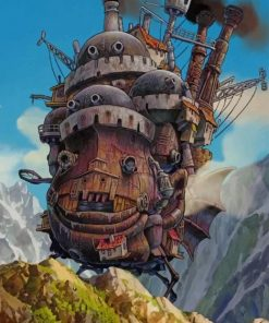 Howls Moving Castle Studio Ghibli ppaint by numbers