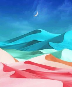 Illustration Desert paint by numbers