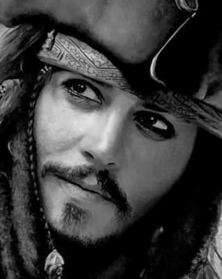 Jack Sparrow Pirates Of the Caribbean Paint by numbers