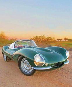 Jaguar Xkss Car paint by numbers