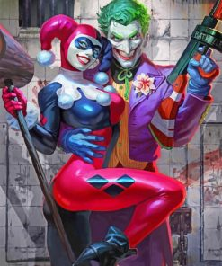 Joker And Harley Quinn paint by numbers
