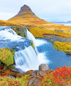 Kirkjufell Mountain Iceland paint by numbers