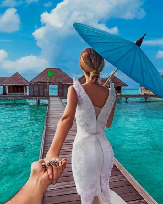 Let's Stay In Maldives Forever paint by numbers
