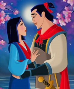 Love Mulan And Shang paint by numbers
