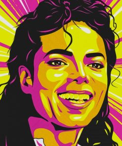 Micheal Jackson Art paint by numbers