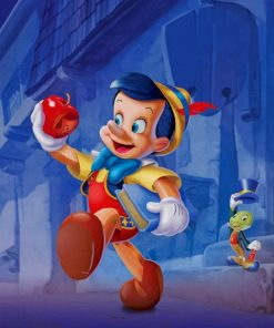 Pinocchio Cartoon paint by numbers