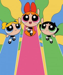 Powerpuff Girls Animation paint by numbers