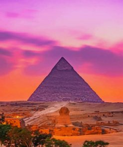 Pyramid Of Khafre paint by numbers