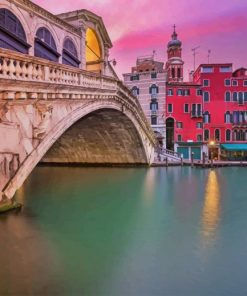 Rialto Bridge Italy paint by number