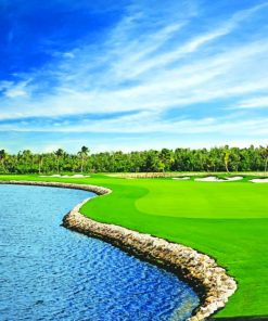 Ritz Carlton Grand Cayman Golf paint by numbers