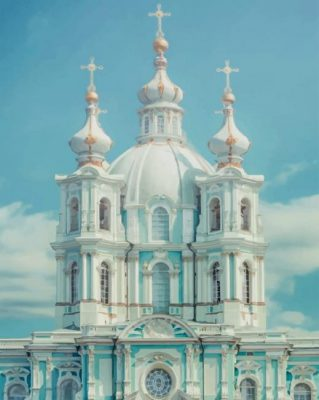 Smolny Convent Russia paint by numbers