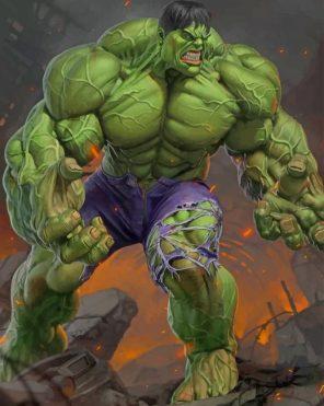 Super Hero Hulk paint by numbers