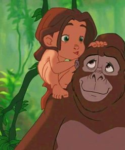 Tarzan And His Momy paint by numbers